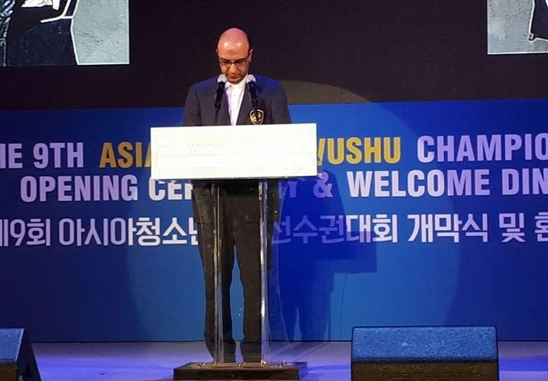 افتتاح رقابت های ووشوی قهرمانی آسیا با سخنرانی علی نژاد