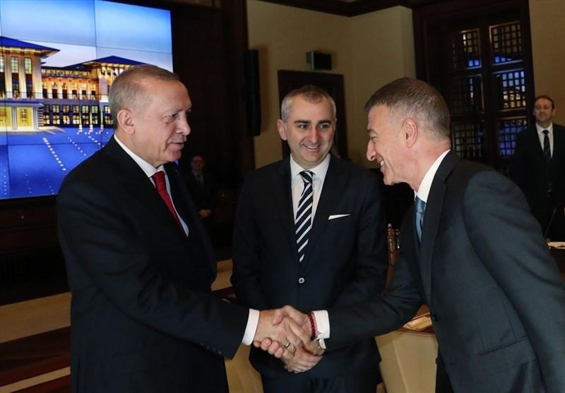 ملاقات رؤسای تیم های فوتبال ترکیه با اردوغان