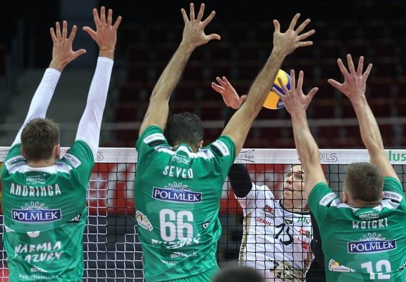 لیگ والیبال لهستان، صعود تیم عبادی پور به صدر جدول، یاران موسوی شکست خوردند