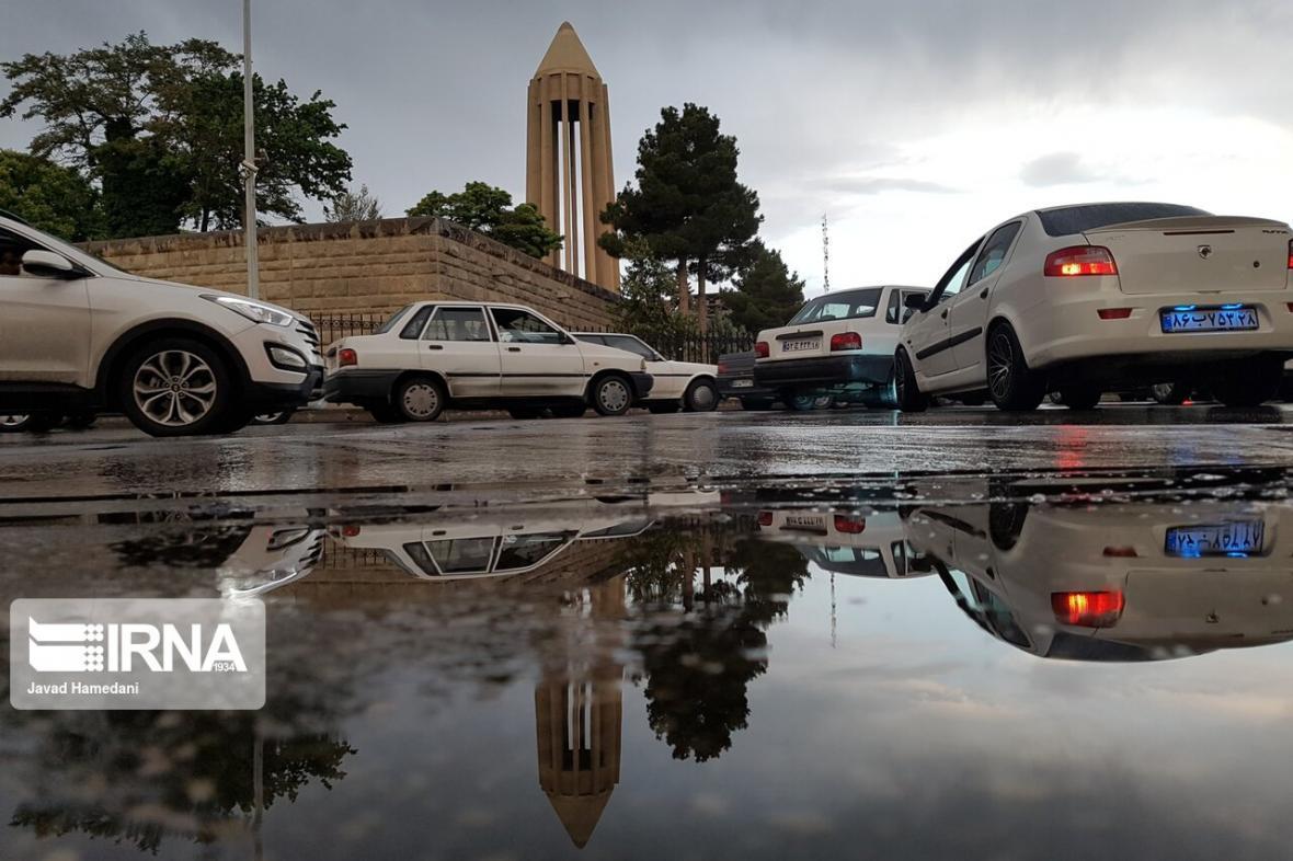 خبرنگاران عصر پنجشنبه همدان بارانی است