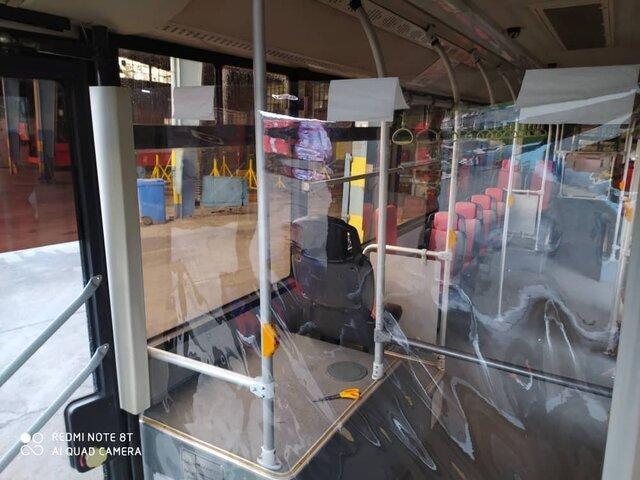 جداسازی کابین رانندگان از مسافران در اتوبوس های تهران