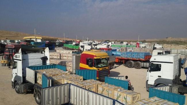 تردد روزانه 700 تا 800 کامیون از مرزهای ایران و عراق