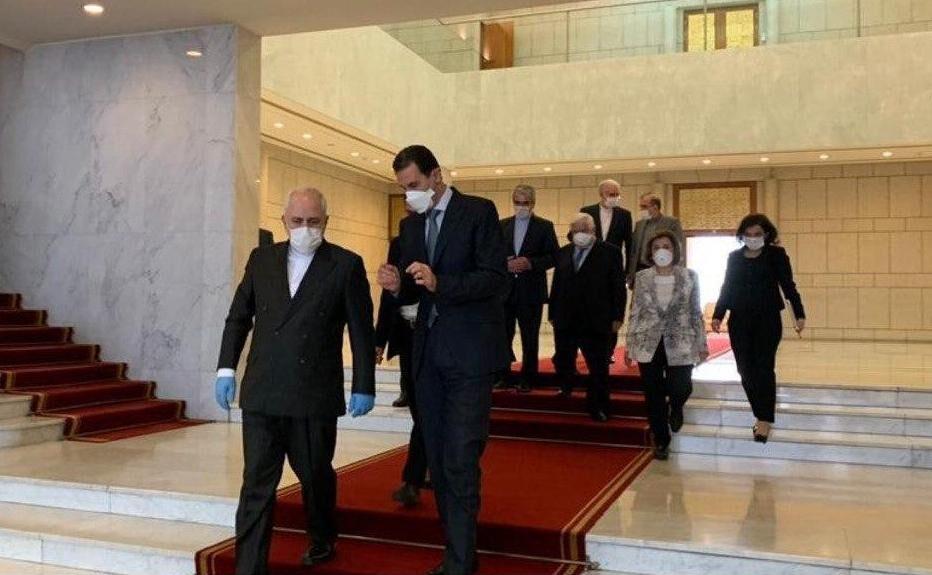 خبرنگاران ظریف با بشار اسد و ولید معلم دیدار کرد