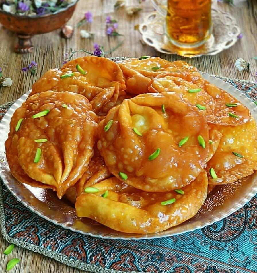 طرز تهیه شیرینی گوشفیل خانگی برای ماه رمضان