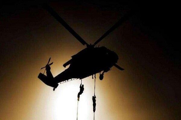 بالگردهایی که داعشی ها را در صلاح الدین عراق هلی برن می کنند