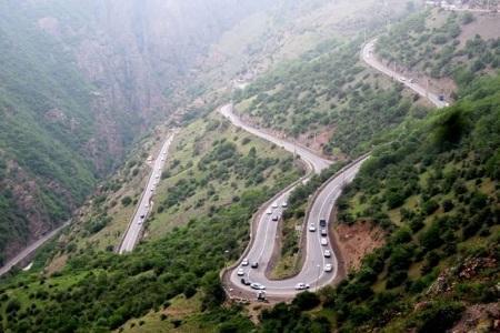 جاده چالوس در تعطیلات پیش رو یک طرفه می شود