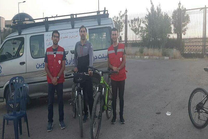 خبرنگاران کمپ آموزش رایگان دوچرخه سواری در قزوین برپا شد