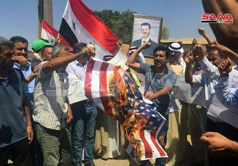 تظاهرات سوری ها علیه اشغالگران آمریکایی