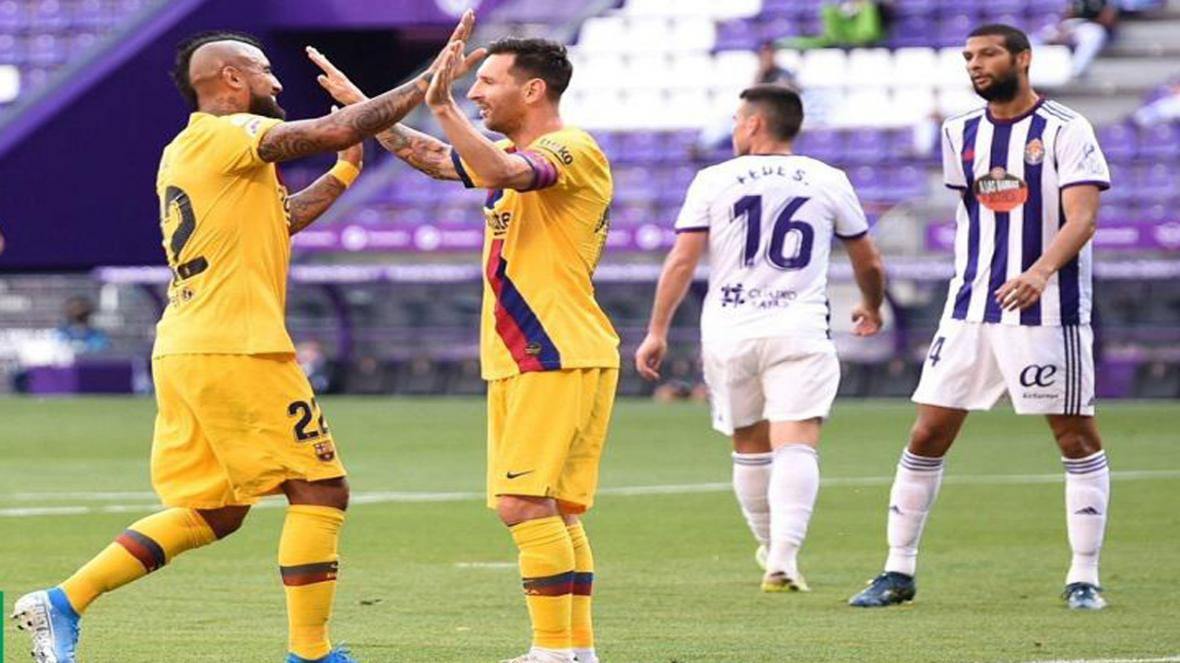 خلاصه بازی وایادولید و بارسلونا در 21 تیر 99