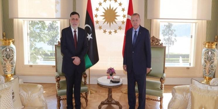 رئیس دولت وفاق لیبی با اردوغان ملاقات کرد
