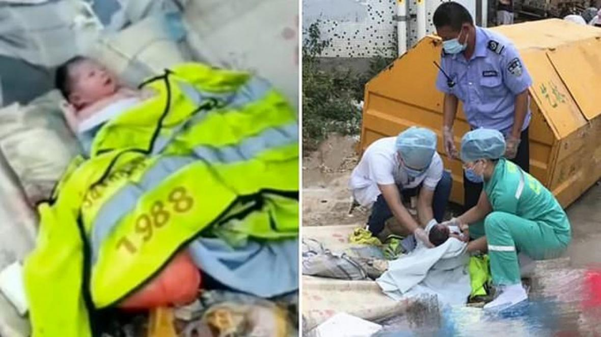 پیداشدن نوزاد در کنار سطل آشغال خیابان!