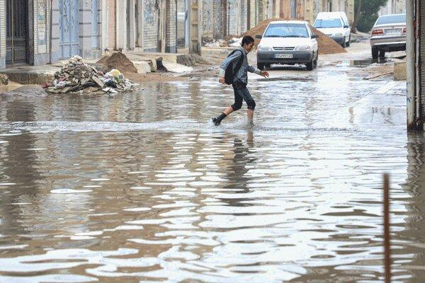 افزایش 166 برابری بارندگی در خلخال