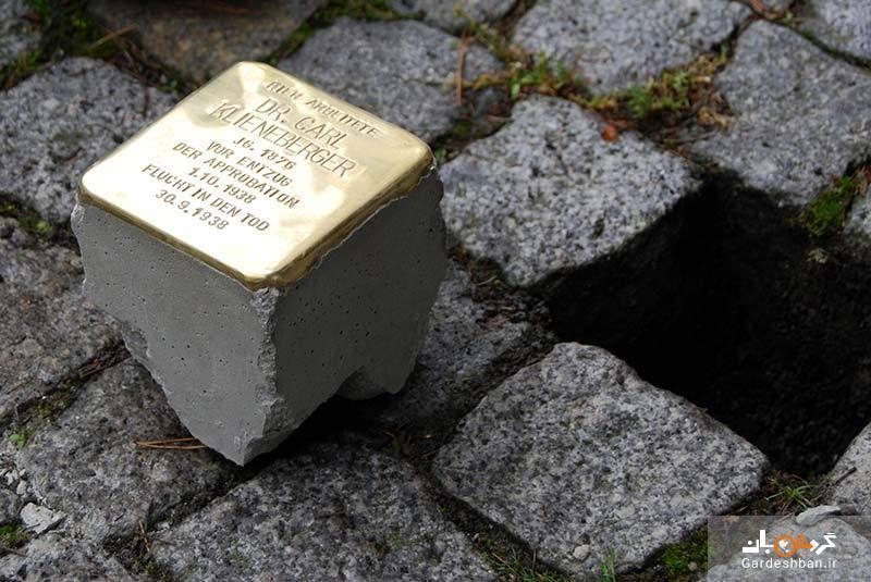 داستان پلاک های برنجی پیاده روهای برلین
