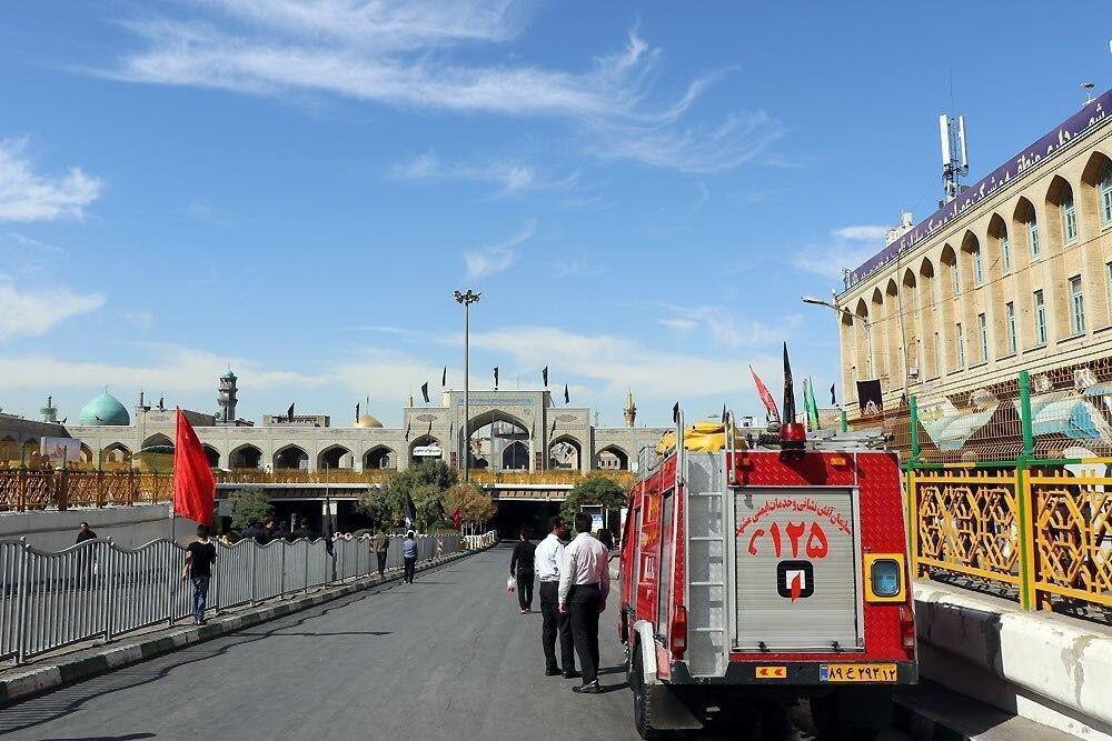 خبرنگاران آتش نشانی مشهد به حالت آماده باش درآمد