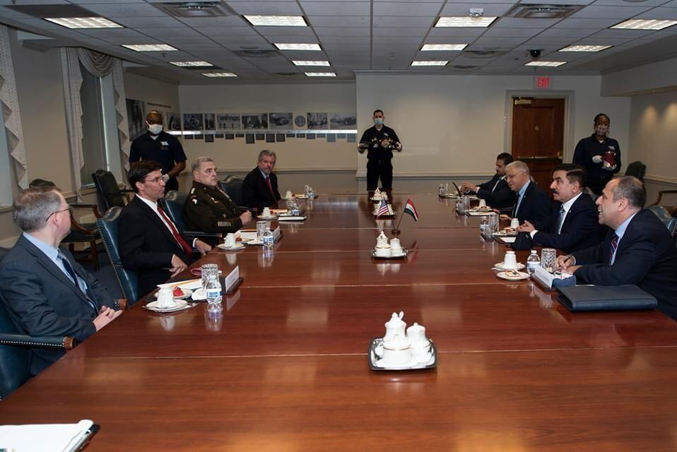 خبرنگاران بیانیه سفارت آمریکا در مورد ملاقات وزیر دفاع عراق از واشنگتن