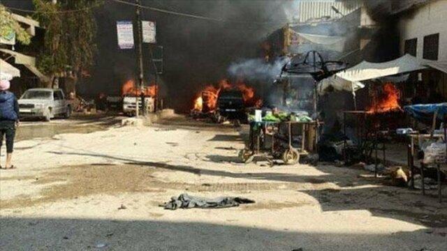 انفجار خودروی بمب گذاری شده در شهر عفرین سوریه