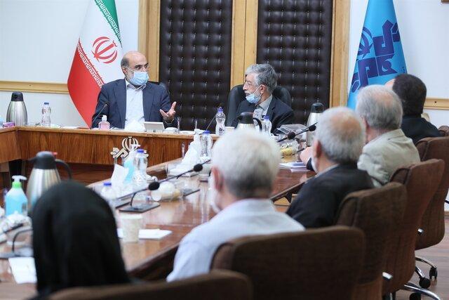 دیدار رییس صداوسیما با اعضای فرهنگستان زبان و ادب فارسی