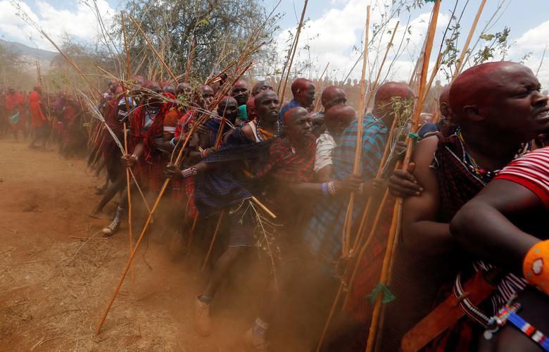 مراسم ارتقای جنگاوران قبیله کنیا