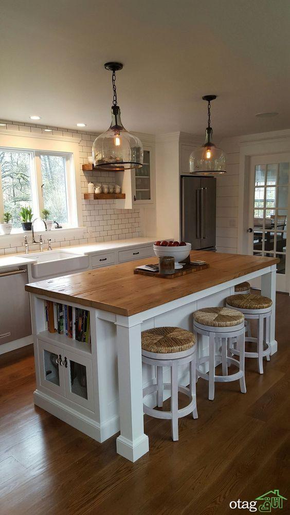مدل های جدید و شیک چراغ اپن آشپزخانه در سبک مدرن و امروزی