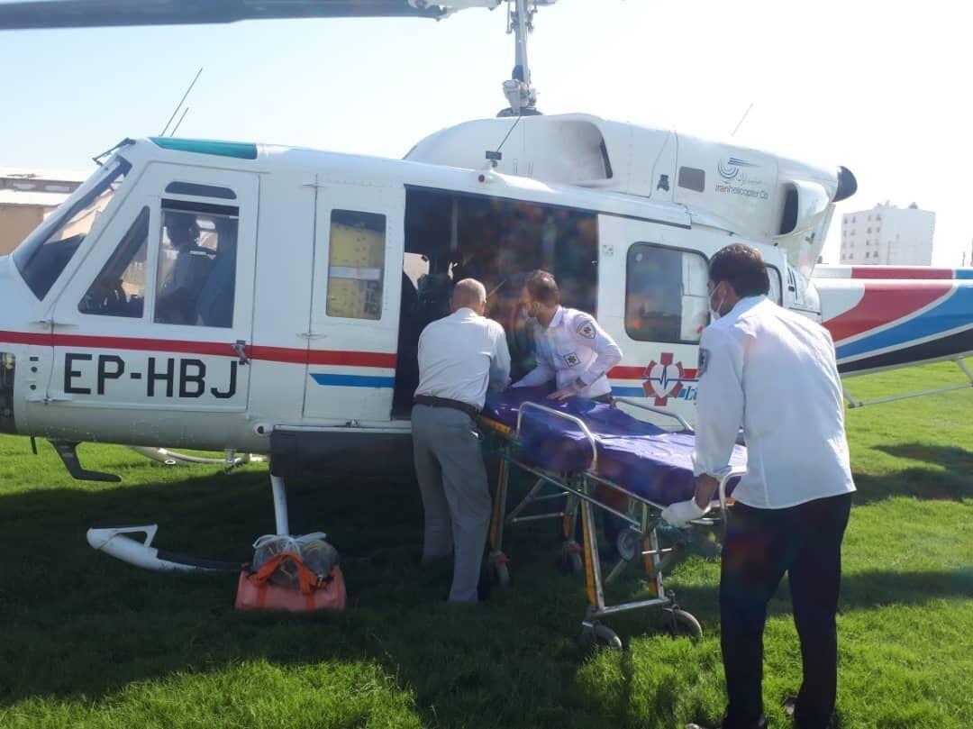خبرنگاران بیمار روستایی با اورژانس هوایی به بیمارستان منتقل شد
