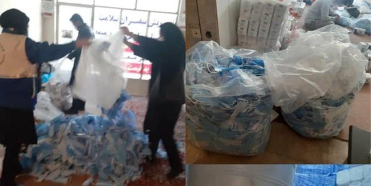 کشف 80هزار عدد ماسک احتکار شده در مسجدسلیمان