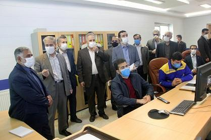 بازدید معاون انرژی سازمان پدافند غیرعامل کشور از شرکت گاز استان آذربایجان شرقی