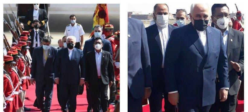 ظریف برای شرکت در مراسم تحلیف رئیس جمهور بولیوی وارد لاپاز شد، عکس