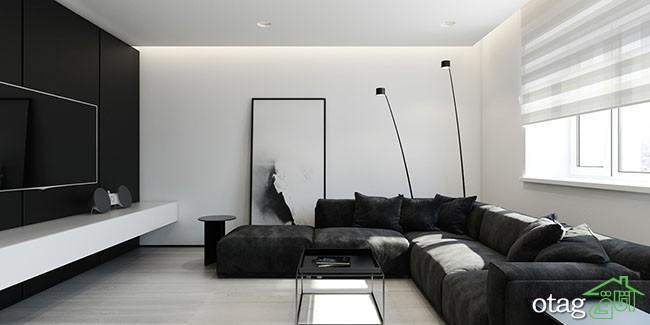دکوراسیون سفید مشکی در اتاق نشیمن ، 30 مدل عکس جدید