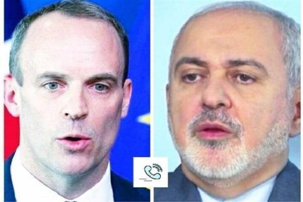 رایزنی تلفنی وزرای خارجه ایران و انگلیس
