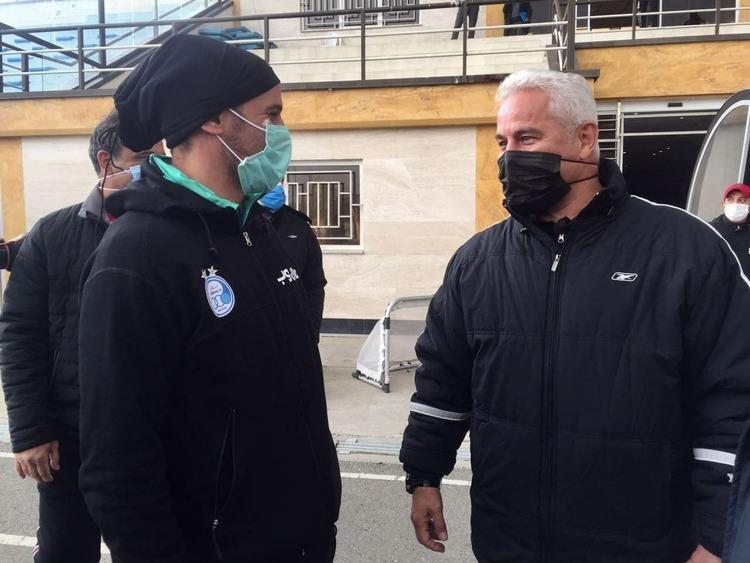 (تصویر) آقای گل پرسپولیسی ها در تمرین استقلال