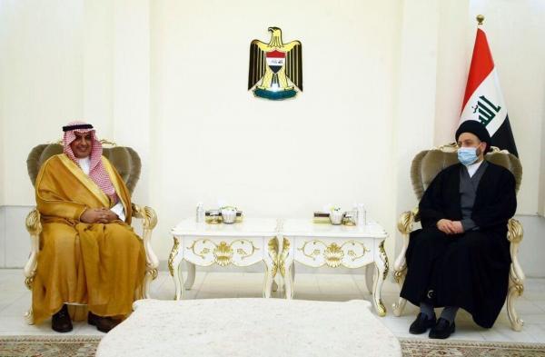 حکیم در ملاقات سفیر سعودی: تاکید بر تقویت روابط دوجانبه