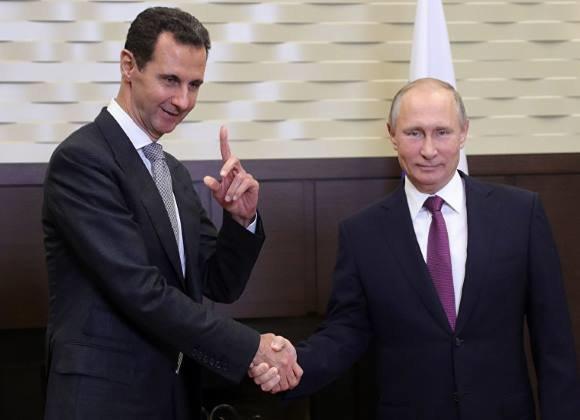 تبریک سال نوی میلادی بشار اسد به پوتین