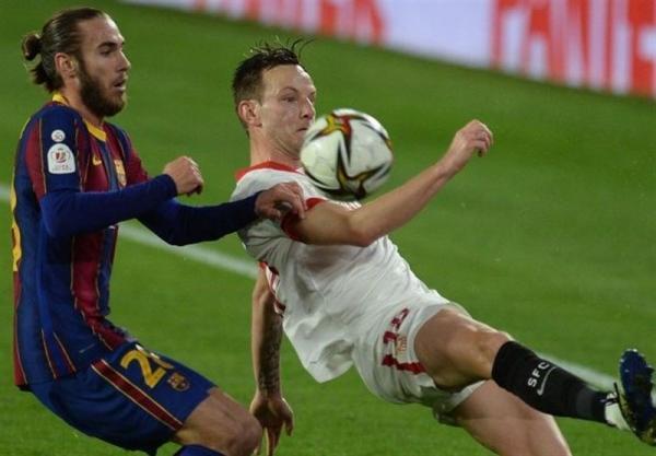 جام حذفی اسپانیا، سویا با غلبه بر بارسلونا به فینال نزدیک شد