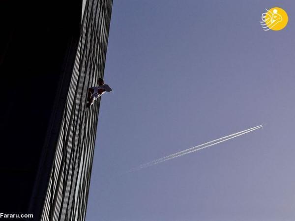 (تصاویر) صعود به یک آسمانخراش بدون تدابیر ایمنی!