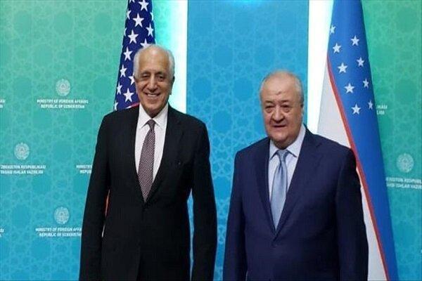 خلیل زاد با وزیر خارجه ازبکستان ملاقات و تبادل نظر کرد