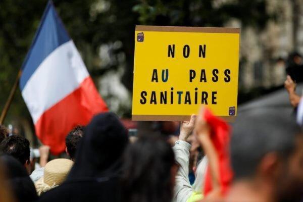 اعتراضات فرانسوی ها علیه سیاست های کرونایی ماکرون